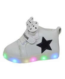 Passion Petals printed shoes- LED - White