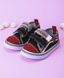 Cute Walk by Babyhug Canvas Shoes - Red & Black
