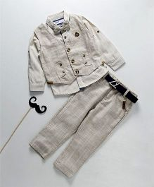 ZY & UP Boys Party Wear Suit Set - Grey
