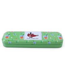 Pencil Box Mice Print - Green