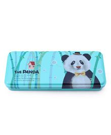 Pencil Box Panda Print - Sea Green