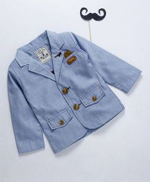 ZY & UP Boys Party Wear Blazer - Blue