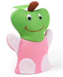 Fruit Shape Baby Bath Gloves - Pink Green