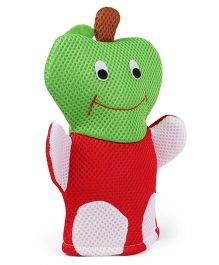 Fruit Shape Baby Bath Gloves - Red Green