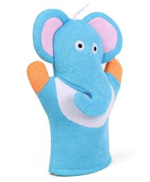 Elephant Shape Bath Gloves - Blue