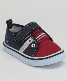 Cute Walk by Babyhug Canvas Shoes - Blue Red