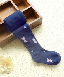 Flaunt Chic Teddy Bear Stockings - Blue