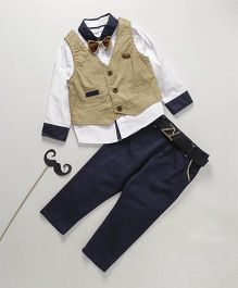 ZY & UP Boys Party Wear Suit - Khaki