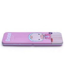 Cartoon  Print Pencil Box - Pink