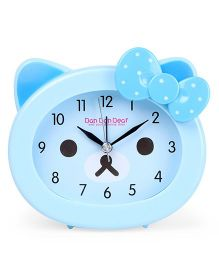 Kitty Face Shaped Clock - Blue