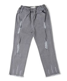 Cubmarks Ripped Denim With Elastic Waist - Grey