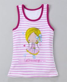 Bodycare Sleeveless Slip With Doll Print - Pink