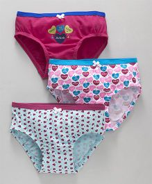 Bodycare Panties Pack of 3 - White Dark Pink Sky Blue