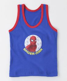 Bodycare Sleeveless Vest Spider Man Print - Royal Blue