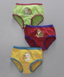 Bodycare Panties Elsa & Anna Print Pack of 3 - Green Red Yellow