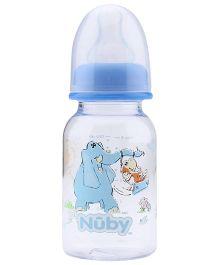 Nuby Plastic Feeding Bottles with Fantasy Jungle Prints - 150 ml