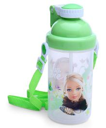 Water Bottle With Pop Up Straw Green - 500 ml (Print May Vary)
