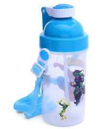 Water Bottle With Pop Up Straw Blue - 500 ml (Print May Vary)
