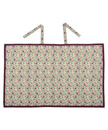 Yogis Organic Cotton Feeding Apron Floral Print - Multi Colour