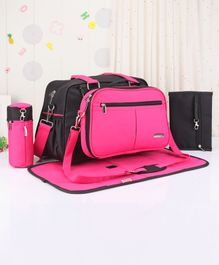 Babyhug Duet Diaper Bag - Black & Pink