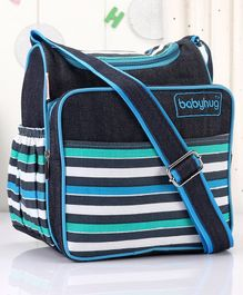Babyhug Vogue Denim Diaper Bag Stripes - Navy