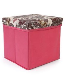 Babyhug Foldable Storage Box - Pink & Brown