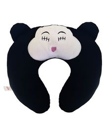 Ultra Travel Neck Pillow Cat Patch - Black