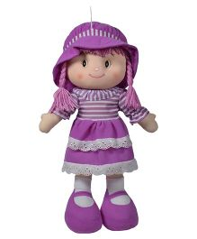 Ultra  Striped Dress Candy Doll Purple - 35 cm
