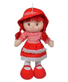 Ultra  Striped Dress Candy Doll Red - 35 cm
