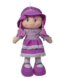 Ultra Striped And Layered Dress Candy Doll Purple - 51 cm
