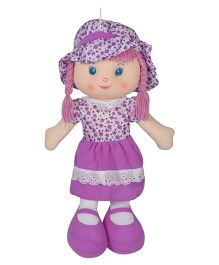 Ultra Candy Doll With Braided Hair Purple - 51 cm