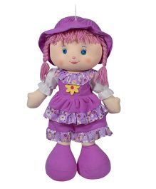 Ultra layered Dress Candy Doll With Cap Purple - 61 cm