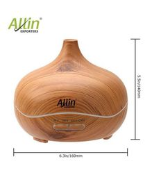 Allin Exporters Ultrasonic Humidifier & Aroma Diffuser With 7 Colour Changing Lights - Brown