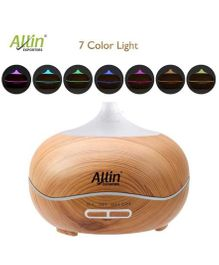 Allin Exporters Ultrasonic Humidifier & Aroma Diffuser With 7 Colour Changing LED Lights - Brown