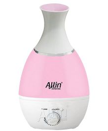 Allin Exporters Vase Shape Ultrasonic Cool Mist Humidifier With Led Light Sharp White - 2.4 litre capacity