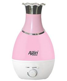 Allin Exporters Vase Shape Ultrasonic Cool Mist Humidifier With Led Light Sharp Pink - 2.4 litre capacity