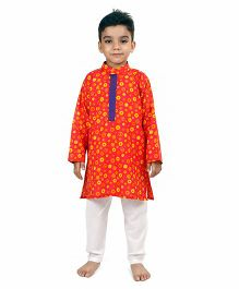 Raghav Circle Printed Cotton Kurta - Multicolor