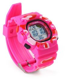 Digital Wrist Watch - Dark Pink