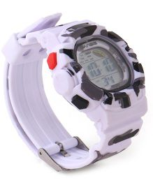 Digital Wrist Watch - White