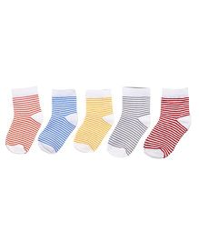 Footprints Super Soft Organic Cotton Socks Pack Of 5 - Multicolor