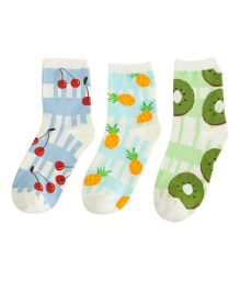 Footprints Super Soft Organic Cotton Socks Pack Of 3 - Multicolor