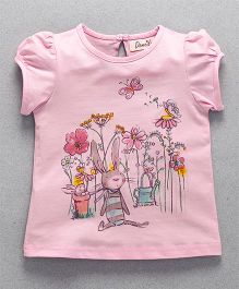Domeiland Flower Pint Girls Top - Pink