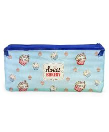 Sweet Bakery Print Pen Pouch - Blue