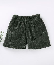 Lilpicks Couture Lace Shorts - Green