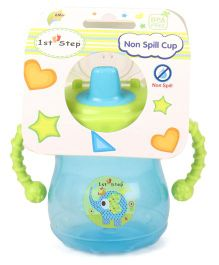 1st Step Two Handle Non Spill Sipper Cup Blue Green - 300 ml