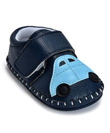 Kiwi Car Patch Velcro Closure Slip-On Shoe - Blue