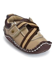 Kiwi Strap Slip-On Shoes - Brown