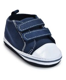 Kiwi Dual Strap Closure Slip-On Shoes - Blue