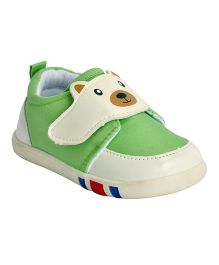 Kiwi Teddy Patch Slip-On Shoes - Green
