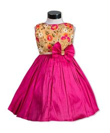 The Kidshop Flower Melange Party Dress - Fuchsia Pink